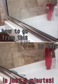 How Do I Clean Glass Shower Doors Glass Shower Door Soap Scum Remover Blue And Jet Hm