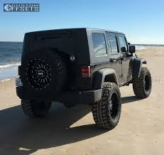 wrangler jeep black wheel offset 2008 jeep wrangler aggressive 1 outside fender
