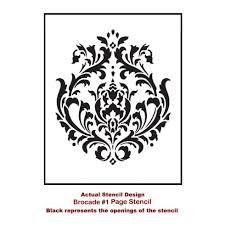 brocade no 1 card stencil template brocade stencil