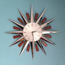 Karlsson Orologio by Silver Starburst Wall Clock