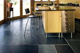 kitchen tile flooring ideas black slate kitchen floor alhenaing me