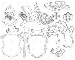 coat of arms template worksheet 3 conference theme medieval