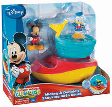 Mickey Mouse Bathroom Faucets by Amazon Com Fisher Price Disney U0027s Mickey And Donald U0027s Stacking