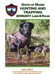 Maine Wmd Map 2009 2011 State Of Maine Hunting And Trapping Rules Hunting