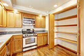 kitchen cabinet top storage kitchen area in empty house light tones wooden cabinet with