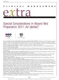 special considerations in wound bed preparation 2011 pdf download