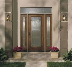 white stained wooden door for modern house entrance design feat