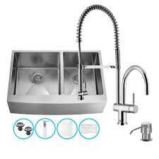 Kitchen Sink And Faucet Sets Vigo Stainless Steel All In One Undermount Kitchen Sink And Chrome