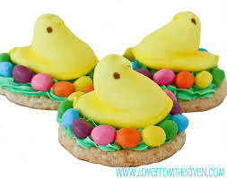 Easter Cake Decorating With Peeps by Easy Peeps Cookies U0026 Crispy Treats Love From The Oven