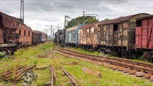 rusty train abandoned railroads in america and in the world haunted train