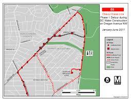Wmata Metro Map by Stop Closures Construction Along Oregon Ave Nw Wmata