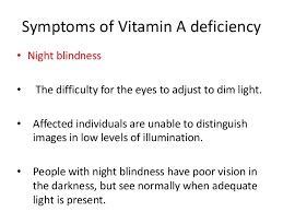 Symtoms Of Blindness Enrichment Of Provitamin A Content In Wheat Triticum Aest U2026