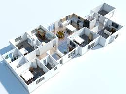 architecture apartments decoration lanscaping 3d floor plan