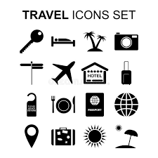 travel symbols images Travel icons set and tourism symbols vector illustration stock jpg