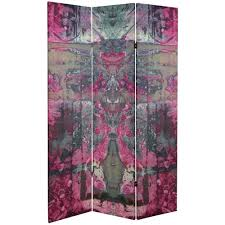 6 ft printed 3 panel room divider can tarot the home depot