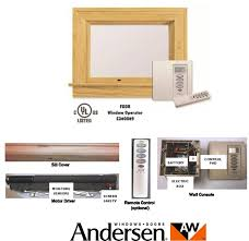Motorized Awning Windows New Andersen Electric Operator With Power Assist Technology