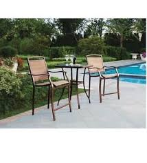Bistro Patio Table And Chairs Set Bistro Table Bar High Chair Set 3 Pieces Outdoor Patio Furniture