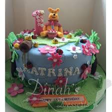 winnie the pooh themed 1st birthday cake dinah u0027s desserts
