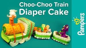 baby shower gift ideas choo choo train diaper cake pampers