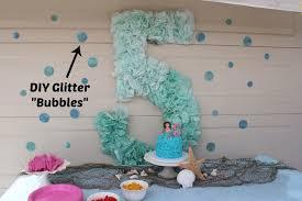 diy glittered polka dots and mermaid party decor mermaid parties