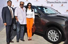porsche suv in india sridevi and boney kapoor ride the 100th porsche suv cayenne