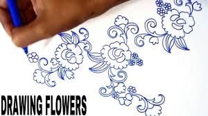 simple embroidery designs drawings drawing tutorial for embroidery