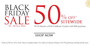 black friday jewelry sale goldheart jewelry throws 50 off sitewide online black friday