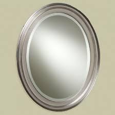 Brushed Nickel Bathroom Mirror by Furniture Awesome Brushed Nickel Bathroom Mirror Embedbath