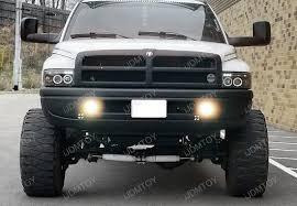 2001 dodge ram 2500 headlight assembly 94 01 dodge ram clear housing oem style fog lights