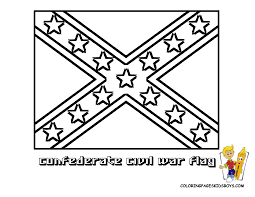 Civil War Rebel Flag Confederate Flag Coloring Pages