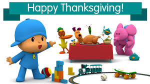 happy thanksgiving in espanol pocoyo and his friends celebrate thanksgiving youtube