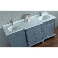 stufurhome cadence grey 72 inch double sink bathroom vanity with