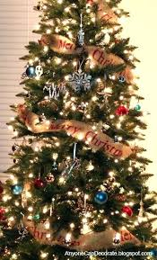 Christmas Tree Ribbon Decorating Burlap Ribbon Christmas Tree Decorating Christmas Tree With Burlap