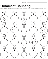 ornament counting math worksheets paging supermom