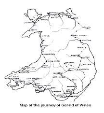 Map Of Wales The Journey Of Gerald Of Wales
