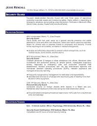 security officer resume security officer resume sles