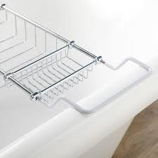 Chrome Bathroom Shelves by Bathtub Basket Chrome Shower Basket Wire Shower Caddy Bathroom