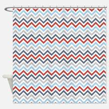 Gray Chevron Shower Curtain Red And Gray Chevron Shower Curtains Cafepress