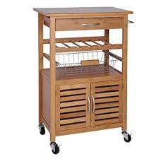 servierwagen küche exklusiver küchenwagen aus bambus mit weinregal obstkorb und