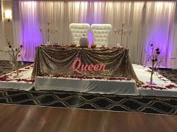 table decor u0026 chair covers queen wedding decor