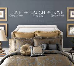 master bedroom wall decals live every moment laugh every day love beyond words wall decal