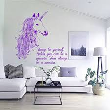 Home Decor Decals Amazon Com Wall Decals Always Be Yourself Quotes Animals Unicorn