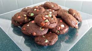christmas recipe double chocolate chip cookies youtube