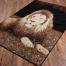 thin area rugs savannah manna lion black casual animal print thin value area rug