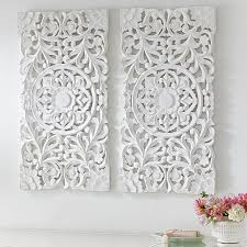 3 wood wall lennon maisy ornate wood carved wall set of 3 wall