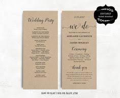 tea length wedding programs templates free wedding fans wedding program template printable wedding programs