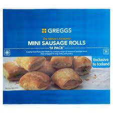 Greggs Halloween Cakes by Greggs 16 Mini Sausage Rolls 433g Party Food U0026 Platters Frozen