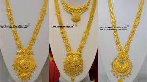 long locket pendant necklace images Gold long haram designs with big huge locket pendants latest 20 jpg