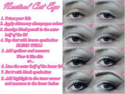 simple neutral cat eye makeup tutorial step by step cat eyes red