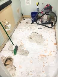 powder room makeover faux marble tile floor bless er house